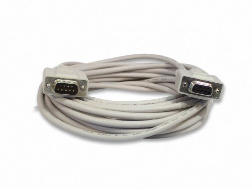 Ycs Basics 25 Foot Db9 9 Pin Serial / Rs232 Male / Female Extension Cable