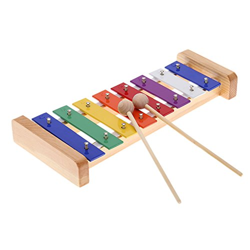 Wooden Rainbow Xylophone Sticks ~ Andoer wood pine xylophone sticks percussion musical toy