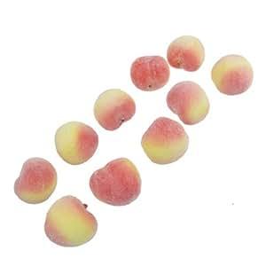 Faux Foam Craft Peach Simulation Fruits Table Decor 10 Pcs
