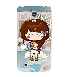 EPICCASE Cute girl with puppy Mobile Back Case Cover For Samsung Galaxy S4 (Designer Case)