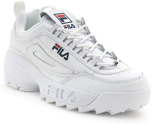 fila disruptor mens. fila men\u0027s disruptor ii sneaker,white/peacoat/vinred,9.5 m mens