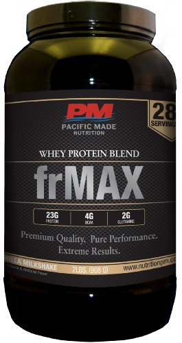 Frmax Whey Protein Blend - 2Lbs, 28 Servings Of Premium Quality Whey Protein Powder (Vanilla Milkshake)
