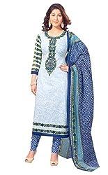 Aasri Womens Cotton Salwar Dress Material (Asg-403 -Multi-Coloured -Free Size)