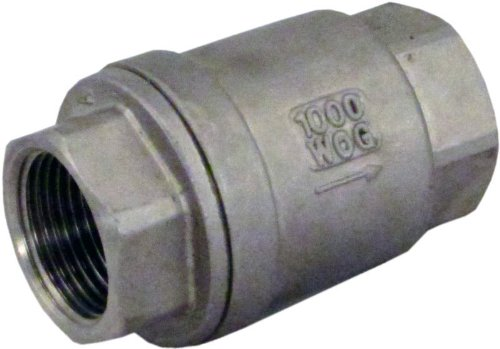 Duda Energy VCV-WOG1000-F075 Vertical Check Valve, 304 Stainless Steel, 3/4