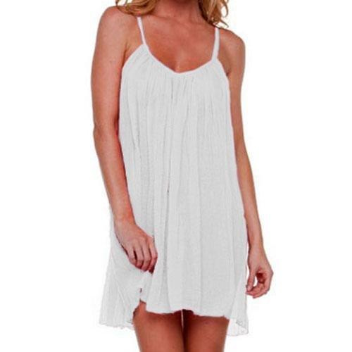 White Sheer Gauzelike Lightweight Dress Cover-Up