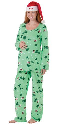 PajamaGram Women's Let It Snow, Man! Maternity Pajamas