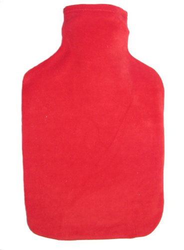 Warm Tradition Hot Red Velour Covered Hot Water Bottle - Bottle Made In Germany, Cover Made In Usa