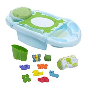 deluxe safety 1st funtime froggy baby bath center tub baby bat. Black Bedroom Furniture Sets. Home Design Ideas