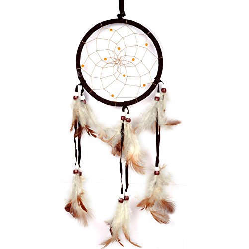 Yantu 1pc Handmade Dreamcatcher Dream Catcher with Beads Perfect for Your Car or Bed Room Home Door