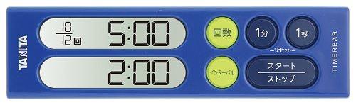 タニタ(TANITA) タイマーバーシリーズ トレーニングタイマー 200分計 パワーブルー TD-405-BL