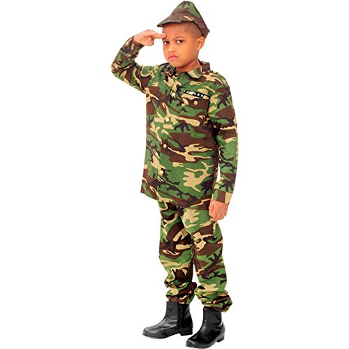 Child's Military Army Costume (Size:Large 10-12)