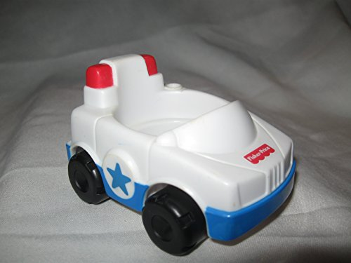 Fisher Price Little People RARE Police Car Police Station Fire House Fire Station Rescue Vehicles OOP 2000 - 1