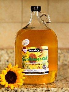 1 Gallon Glass Bottle High Oleic Sunflower Oil