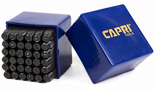 Capri Tools 20015 Letter and Number Metal Stamp Set, 1/4