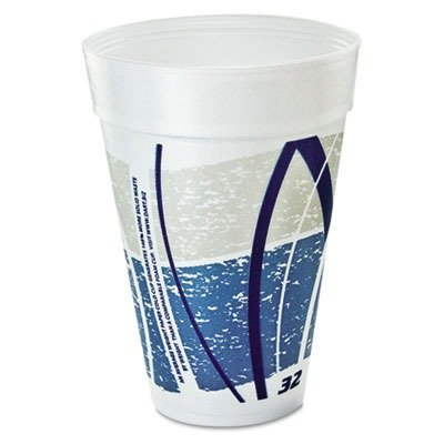 32-oz-printed-impulse-foam-hot-cold-drinking-cups-25-bag-in-blue-gray-by-dart