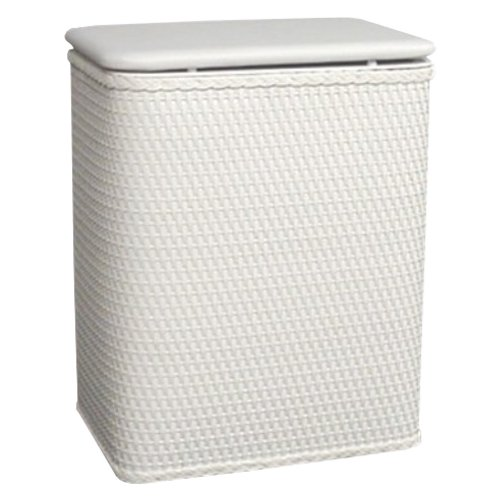 Redmon for kids infant and toddler wicker hamper with vinyl lid white shopswell - White wicker clothes hamper ...