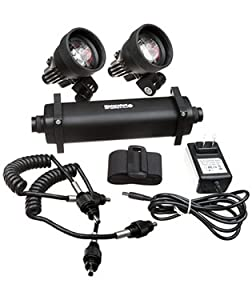 Watershot STRYKR Dual V900 150M Video Light 8-Cell Battery Kit Scuba Diving LED Light... by Watershot Inc.