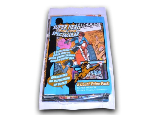 Cardsone Super Hero Comic Book Spectacular 5 pack - 1