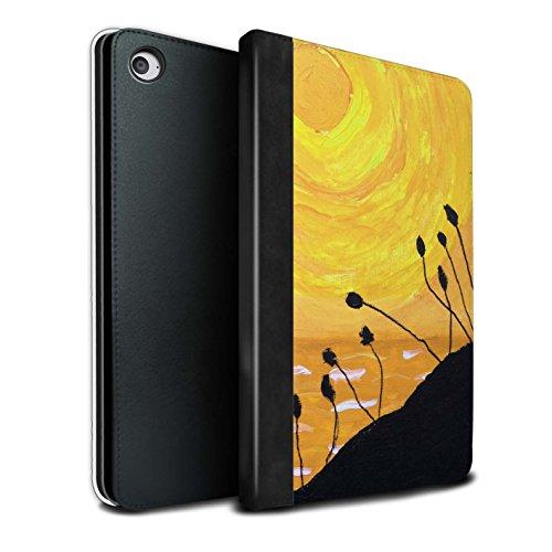 STUFF4 PU Pelle Custodia/Cover/Caso Libro per Apple iPad Mini 4 tablet / Giallo / Tramonto Pittura a Olio disegno