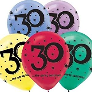 30th Birthday Party Balloons - 15 ct from Amscan, Inc.