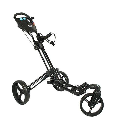 "Golftrolley Yorrx® SL Pro 7 HAMMA ""PLUS"", Golfwagen mit innovativem 360° SPIN Vorderrad (frei 360° gelagert), inkl. orig. Yorrx Golfhandtuch & Tees"
