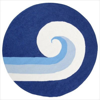 Playground Royal Blue Kids Round Rug Size: Round 6'