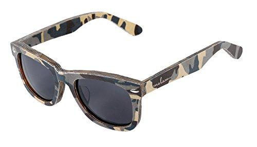 amoloma Canvas Camouflage Sunglasses Textile acetato ibrido (camouflage verde, grigio)
