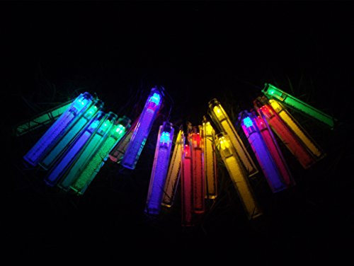 Solar Powered Multi Color Icicle String Lights For Christmas, Wedding And Party Decoration