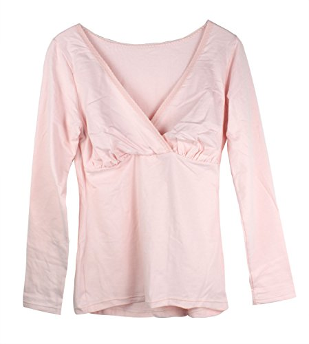 Niceeshop(Tm) Women Soft Nursing Wear Shirts Breastfeeding Clothes (Pink,M) front-12622