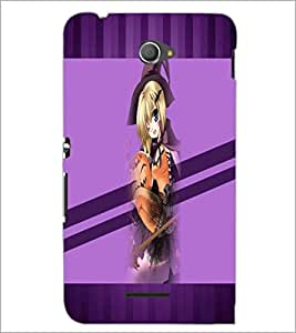 PrintDhaba Cute Girl D-3039 Back Case Cover for SONY XPERIA E4 (Multi-Coloured)