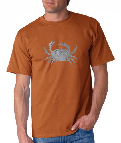 Alaskan Hardgear RR-10CRA Crab Short Sleeve Graphic Tee, XX-Large, Rust Orange