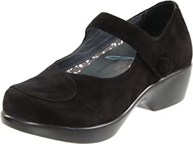 Dansko Women's Abby Mary-Jane Loafer,Black Suede,37 EU/6.5-7 M US
