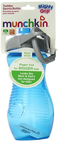 Munchkin 12 Ounce Mighty Grip Toddler Sports Bottle, Colors May Vary