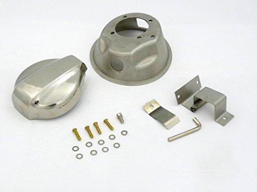 OBX Chrome Fuel Lid Door Cover Gas Cap Type I 99-05 Mazda Miata 1.8L MX-5 MX5 (Miata Fuel Lid compare prices)