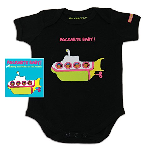 Rockabye Baby! More Lullaby Renditions of The Beatles + Organic Baby Bodysuit (Album Art)