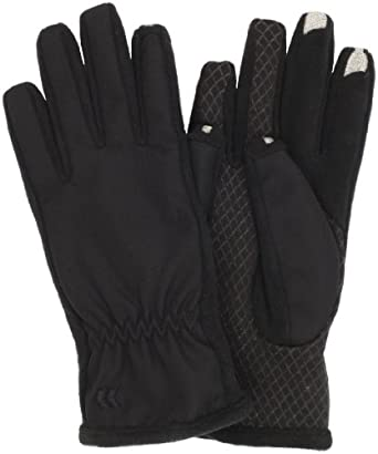 Isotoner Women's Smartouch Matrix Glove, Black, Medium/Large