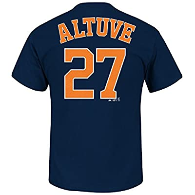 Jose Altuve Houston Astros #27 MLB Men's Name & Number T-shirt