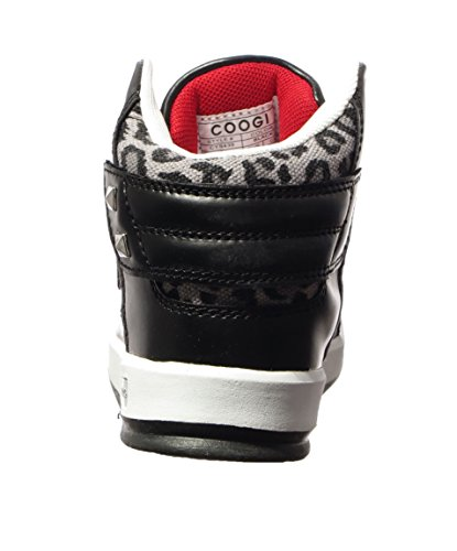 Coogi Boys CYS435 Stein Fashion Sneaker Shoes Black 1.5 Kids US