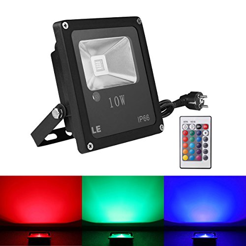 comparamus le 10w projecteur rgb led ext rieur multicolor etanche ip65 lampe ambiance avec. Black Bedroom Furniture Sets. Home Design Ideas