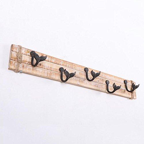 American Village creativo decorazione Hook Up Retro pastorale in legno di stile personalizzata vestiti del cappotto gancio