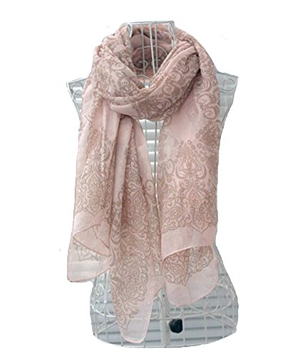 DAYAN Femminile sciarpa scialle lungo porcellana Stampa morbida Colore rosa