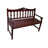 D-ART SHELL ENTRANCE BENCH - in mahogany wood