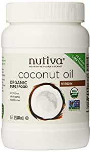 Nutiva Organic Virgin Coconut Oil, 15oz, (Count of 2)