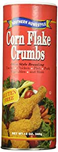Southern Homestyle Corn Flake Crumbs, Gluten Free, 12-Ounce Cans (Pack of 6)