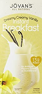 Jovan's All Natural Instant Breakfast, Vanilla Cream, 5.29 Ounce