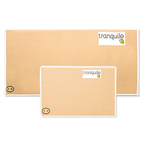 Check Out This Tranquilo Mat: The Portable Soothing Vibrating Baby Mat – CPSIA SAFE (Mixed Pack – 1 Small & 1 Large, Tan)