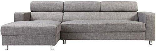 FabHomeDecor Mini FHD173 Five Seater Sofa (Grey)