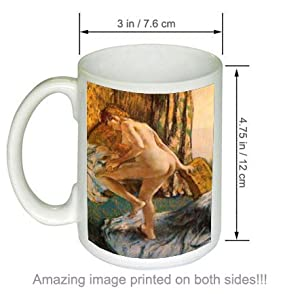 After the Bath Edgar Degas Art Giclee COFFEE MUG