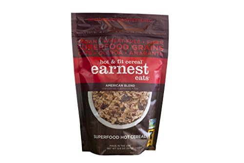 Earnest Eats Vegan Hot Cereal With Superfood Grains, Quinoa, Oats And Amaranth - American Blend - (Case Of 6 - 12.6 Oz)