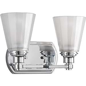 Progress lighting p3001 15 victory two light bath vanity for Amazon bathroom vanity lights